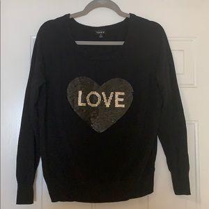 Torrid Love/Nope Sequin Heart Sweater
